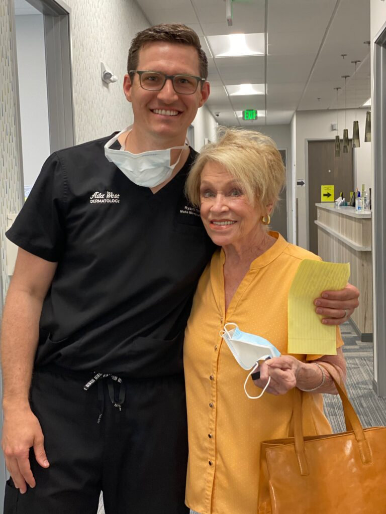 RYAN B THORPE MD FAAD with Mohs patient